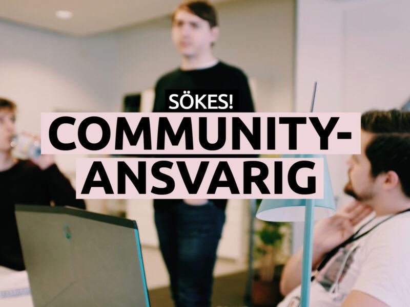 Communityansvarig